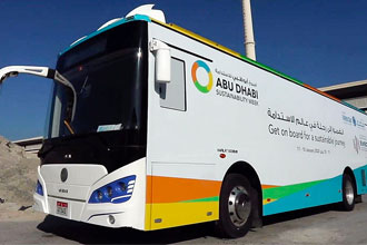 Abu Dhabi Sustainability Week Eco-Bus to Tour the UAE
